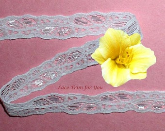 White Lace Trim 14/28 Yards Galloon 1/2 inch wide Lot N63B Added Items Ship No Charge