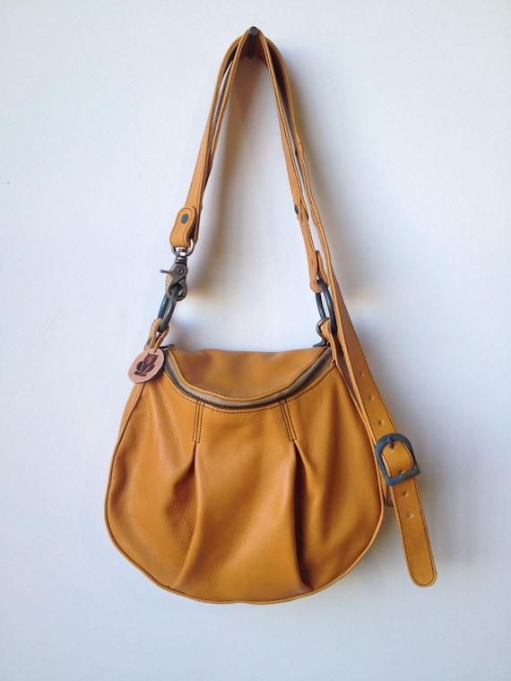 Yellow Leather Handbag- mustard bag