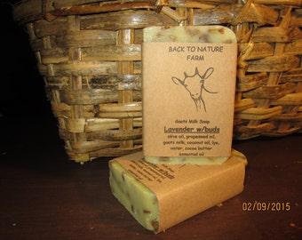 Handmade Lavender w/Buds Goats Milk Soap