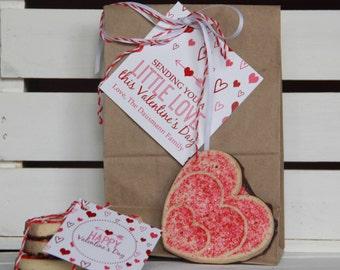 Printable Valentine's Tags - Valentines - Large and Small custom Valentine Treat Tags - Valentine Labels