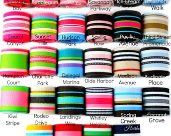 Striped Grosgrain Ribbon 1-1/2 inch - Choose Color and Yardage - Hairbow Supplies, Etc.