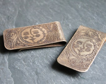 Money Clip Sun & Moon Female