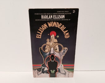 BOOKLOVERS SALE Vintage Fear Fantasy Book Ellison Wonderland by Harlan Ellison 1974 Paperback