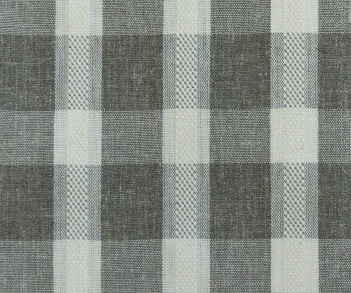 Brown plaid curtain panels -  27 00