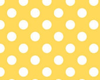 Riley Blake Medium Yellow Dots