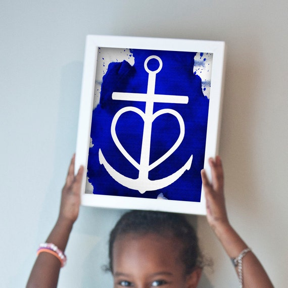 Printable 11x14 Faith Hope Love anchor print