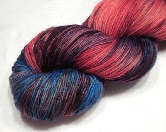 Merino nylon yarn fingering weight yarn sock yarn 94g (3.3oz) variegated yarn - Looney Joe