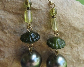 Beautiful Beaded Dangle  Earrings E 48