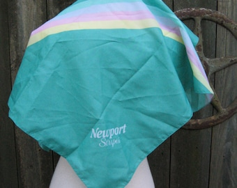 Newport Stripes Scarf PROMOTIONAL gift for Newport Smokers 1970s