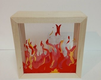 Fire Shadow Box (small)