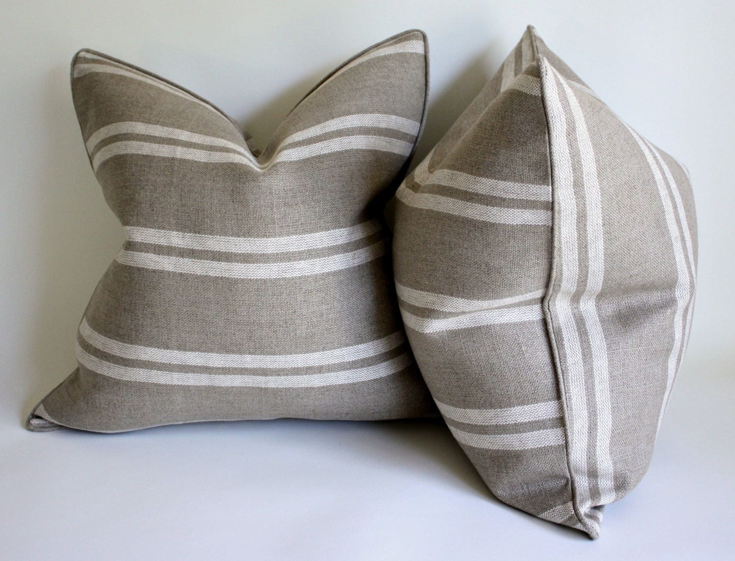 Pair of Ralph Lauren Heavy Linen Decorative Pillow Covers