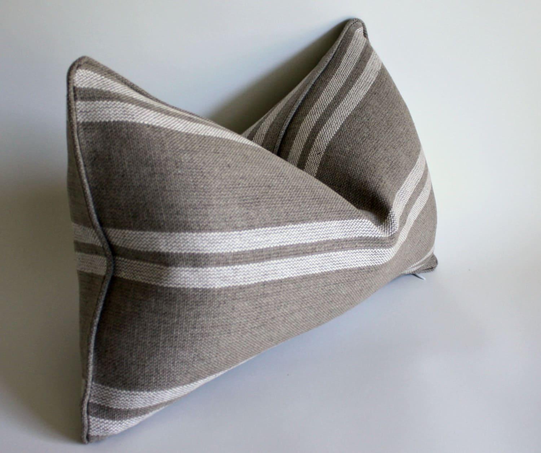Lumbar Pillow in Ralph Lauren Heavy Linen Decorative Pillow
