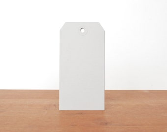 grey shipping tags: gift tags, labels, hang tags, clothing tags, mail tags set of 10