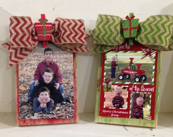 Christmas Fence Picket Clip Frame