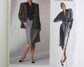 Vogue Pattern 1755 Anne Klein American Designer Jacket, Skirt, Blouse Misses Size 12 Copyright 1986