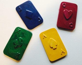 Playing cards crayon set of 4