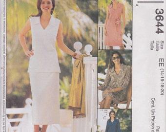 Dress Pattern Shirt Top Skirt Pants Misses Size 14 - 20 Uncut McCalls 3644