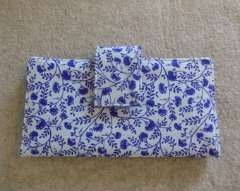 Fabric Wallet - Purple Floral