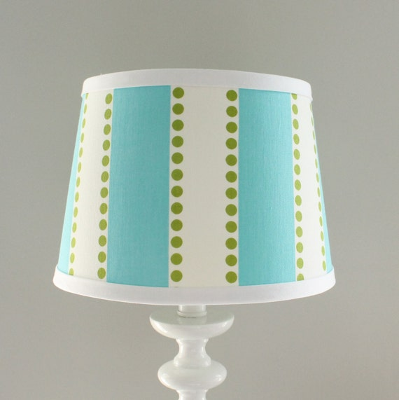 small aqua and green stripe lamp shade. Black Bedroom Furniture Sets. Home Design Ideas