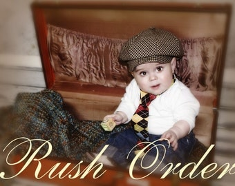 Baby Hat and Bow Tie Rush Order Service for 2 to 2.5 Weeks shipping Time Frame
