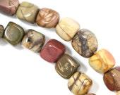CLEARANCE Red Creek Jasper Beads - Tiny Pebbles - Full Strand