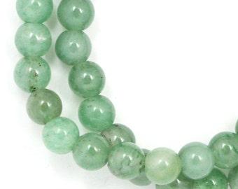 Green Aventurine (Grade C) Beads - 6mm Round - Full Strand