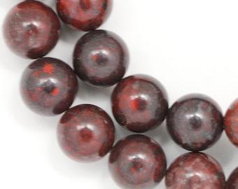Poppy Jasper Beads - 10mm Round