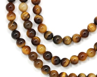 Tiger Eye Beads - 3mm Round