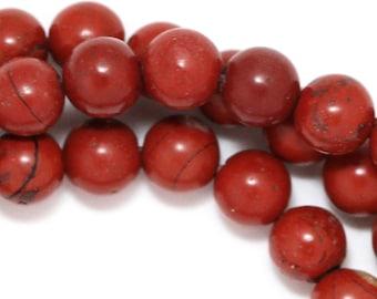 Red Jasper Beads - 6mm Round