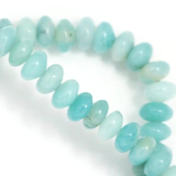 Amazonite Beads - 6mm Rondelle - Full Strand