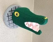 Sewer Alligator Vegan Wall Mounted Head Faux Taxidermy Stuffed Animal