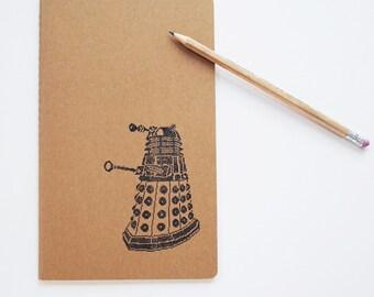 Dalek journal, doctor who diary, large moleskine 8 bit geek