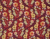 Cotton Fabric by the Yard Tula Pink Moon Shine Fabric Sprout in Jam One Yard