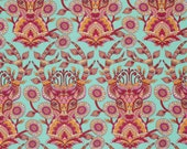 Dear Me in Strawberry Tula Pink Moon Shine Fabric Cotton Quilting Fabric Half Yard