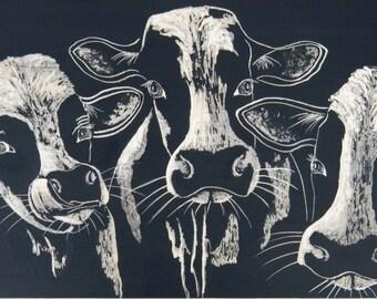 Three Cows Crowded
