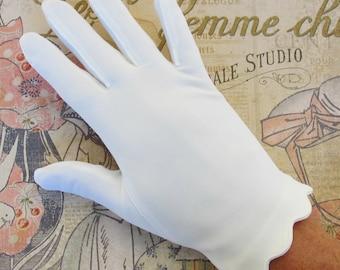 1960s Gloves Scalloped Bridal
