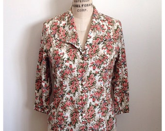 Vintage 90s floral long sleeve blouse