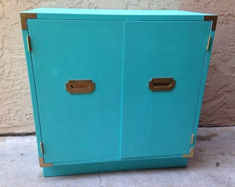 Turquoise and Gold Regency Campaign Cabinet = Sold Can Make Similar