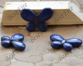 4beads 25x35mm Blue Turquoise butterfly loose beads,turquoise nugget gemstone beads,turquoise beads 15inch