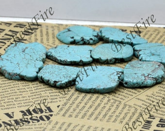15 inch Blue Turquoise nugget gemstone beads,Turquoise Nugget Random Gemstone Bead loose strands