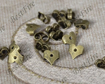 50pcs of Antique Bronze Brass Earring STUDS BACK STOPPERS,Earring back stopper,Earring Findings