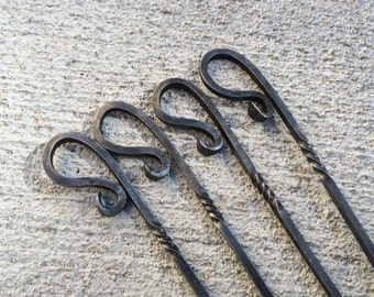 Hand Forged BBQ Skewers - Set of 4