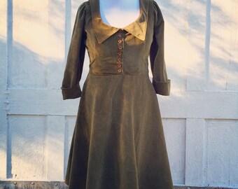 Winter velvet dress