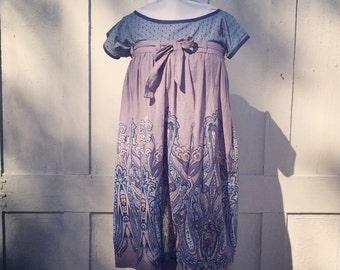 Gathered wrap skirt / maternity dress