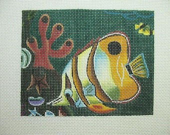 Tropical Fish Needlepoint Canvas*