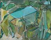 "Fracturing Emeralds - Fine Art Print - 8.5"" x11"""