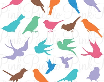 Bird Silhouettes SVGs, Birds Cutting Templates - Commercial and Personal Use