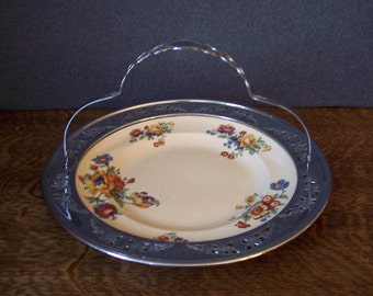 Vintage Serving Dish with Handle by Farberware Umbertone Leigh Potters