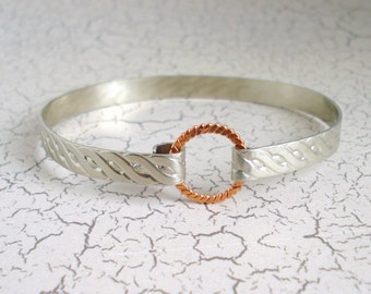 Nickel and Copper Bangle Bracelet Free US Shipping