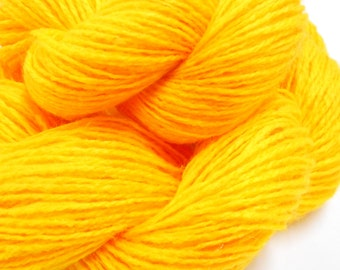 3 Skeins Vintage Yarn, 2 Ply Yellow Yarn, Knitting Supplies, Crochet Notions, Y100